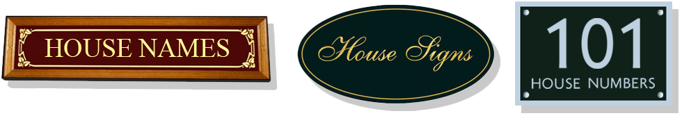 House Signs and House Number Plaques